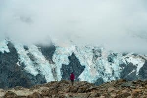 Mueller hut hike, me and glaciers