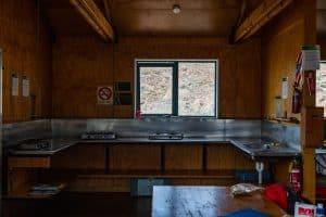 Kitchen in Mueller hut