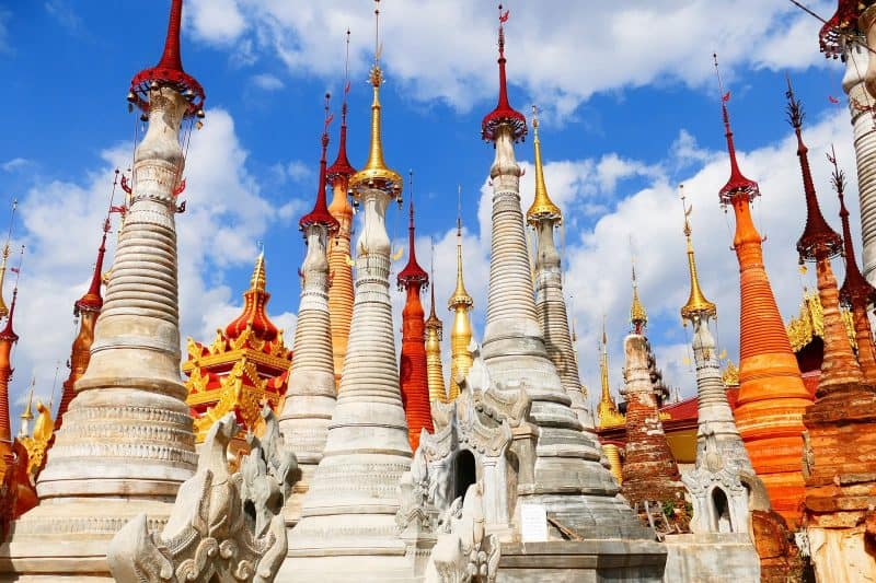 Stupas burma in input