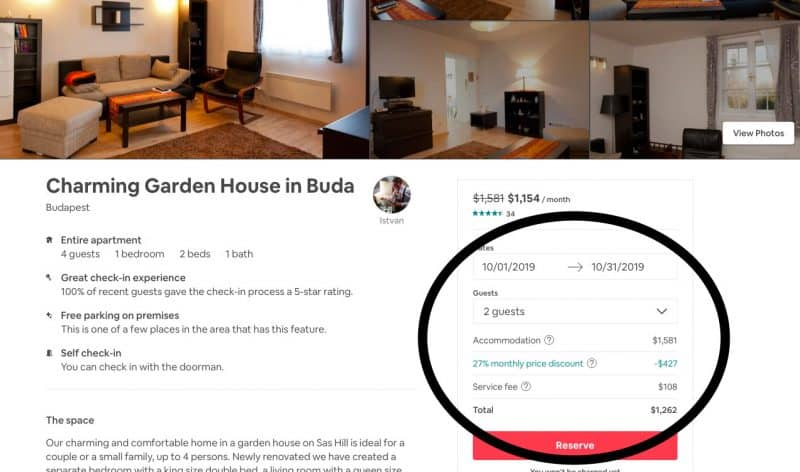 Airbnb long term discount