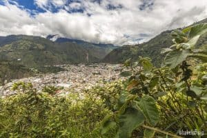 Baños view of the city