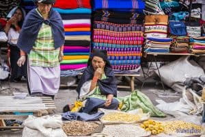 Otavalo market goods