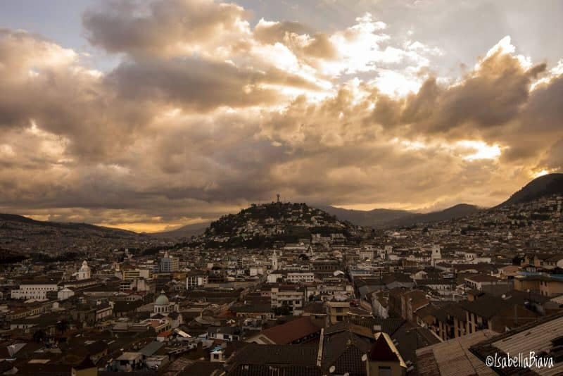 Quito, view of the historical center