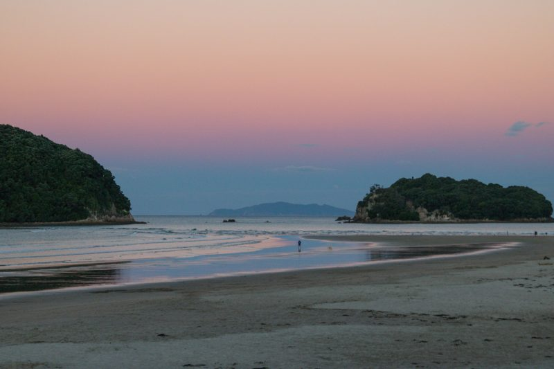 Whangamata Beach sunset