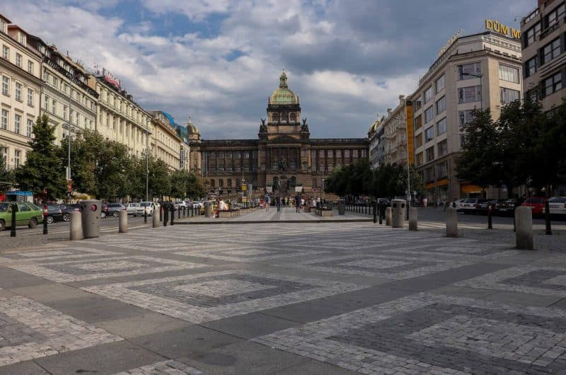 Wenceslas square national museum