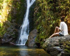 Wentworth falls on north island New Zealand