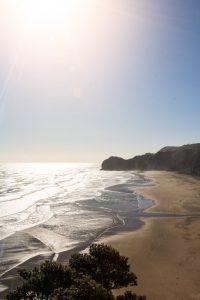 Piha beach from Lion rock