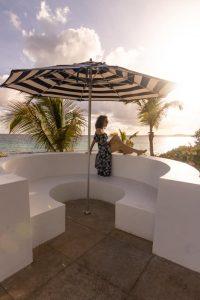 Longbay villas Anguilla umbrella