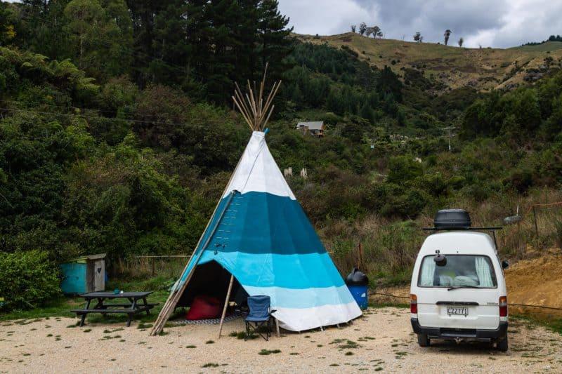 New Zealand campervan Abel Tasman