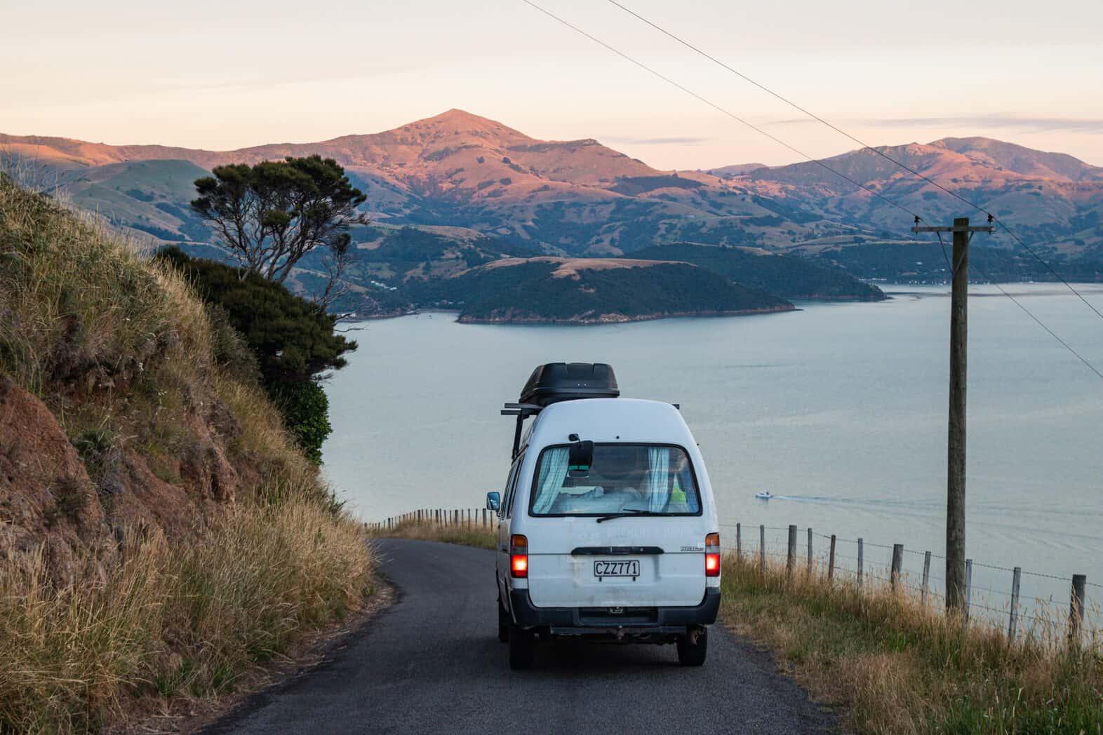 New Zealand campervan Akaroa