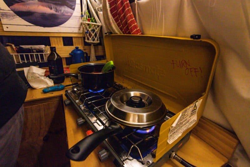 New Zealand Campervan cooking