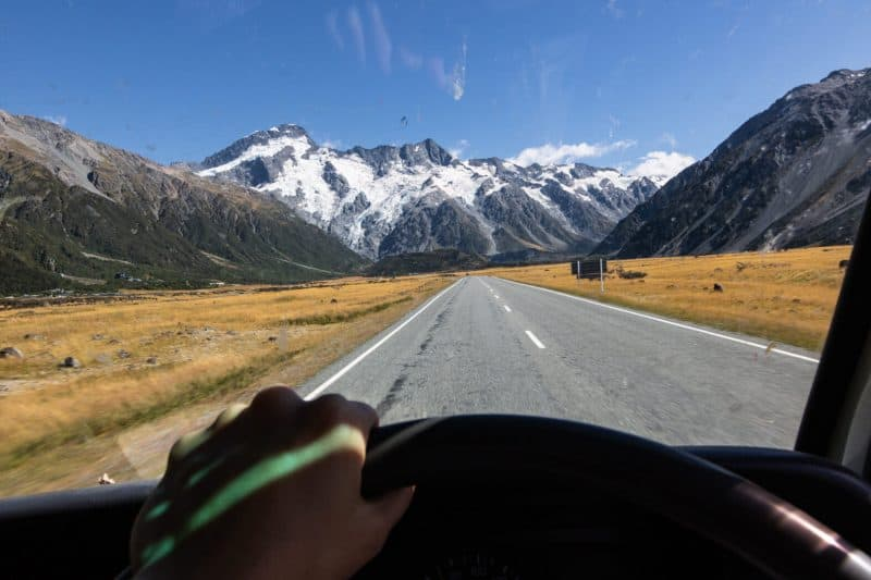 New Zealand campervan Mount Cook