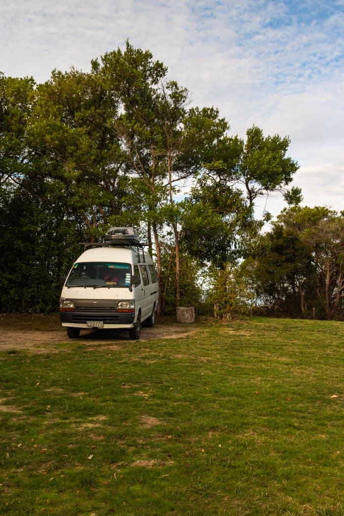 Totaranui campervan site New Zealand