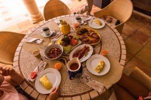 villa Alegria Anguilla breakfast