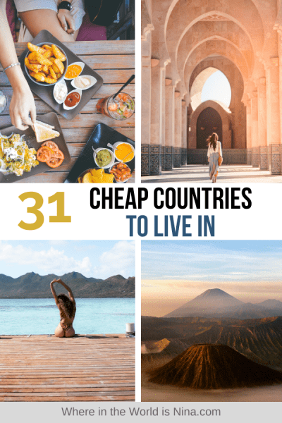 31 Cheap Countries to Live In