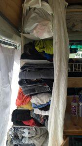 Storage idea in our camerprvan in New Zeaand