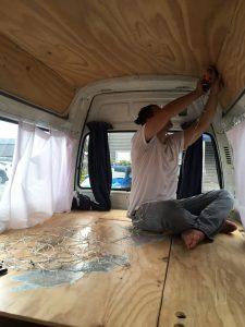 Decoring our campervan in New Zealand