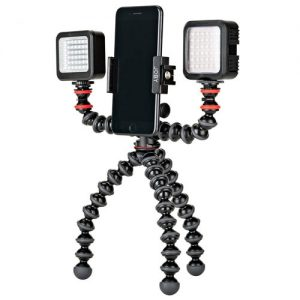 joby tripod with lights