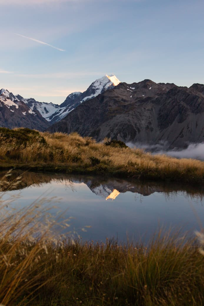 Mount Cook reflection, New Zealand