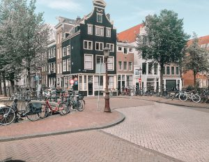 View on the street in Amsterdam