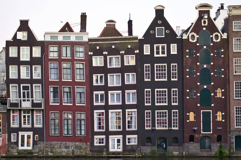Narrow buildings of Amsterdam