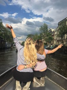 Women on the boat ride