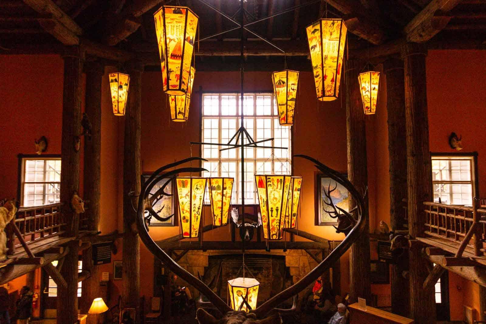 Gorgeous design of the Lake McDonald Lodge
