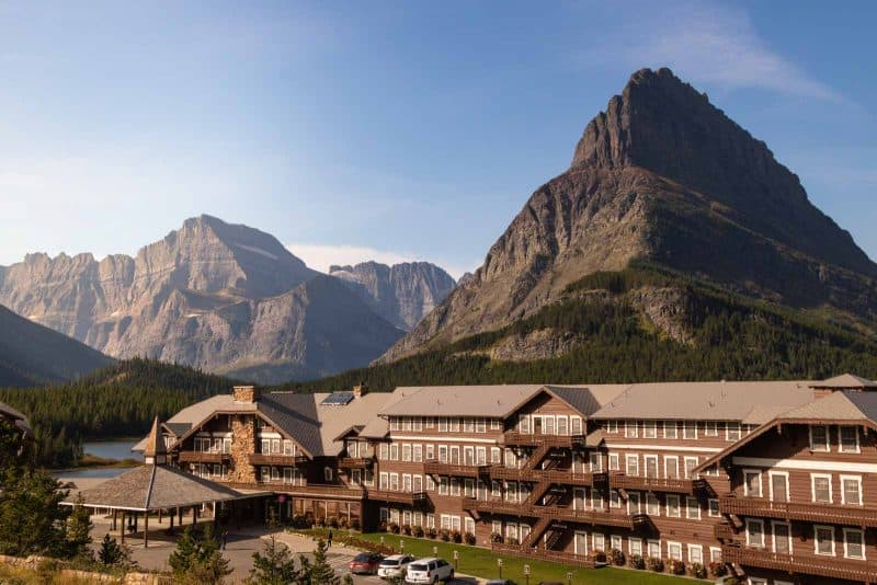 View of the Many Glacier Hotel