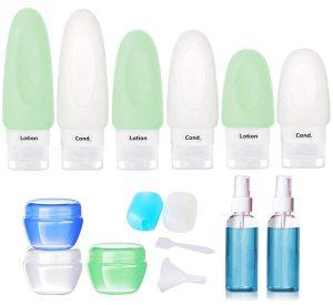 16 pcs silicone travel bottle set - travel accessory