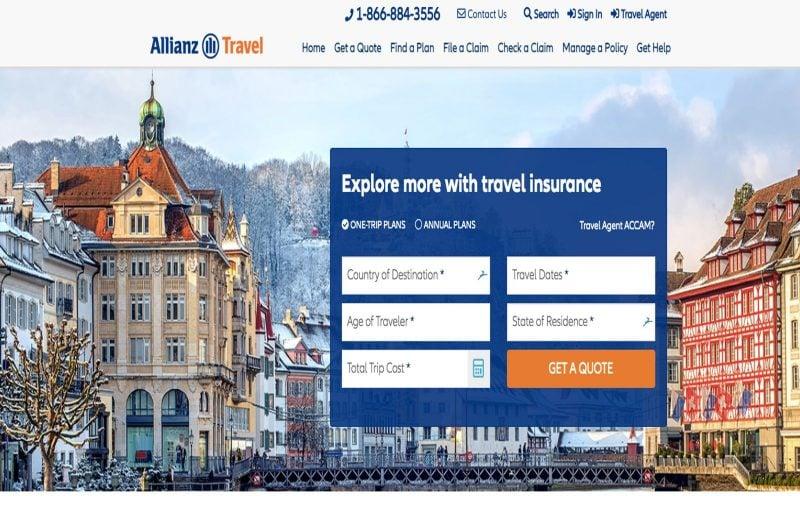 Allianz offers good long trip travel insurance