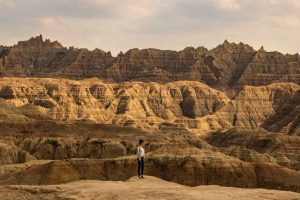 A view of Badlands National Park — an adventurous thing to do near Rapid City