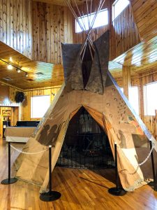 A photo of a tipi at the Crazy Horse Museum in Grand Rapid — an educational thing to do in Grand Rapids