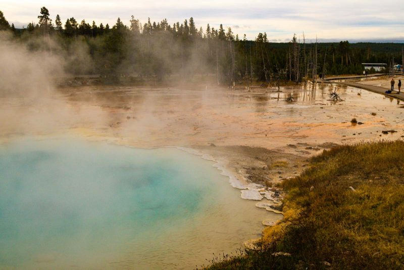 A view of Fountain Paint Pots that shouldn't be skipped on your Yellowstone itinerary