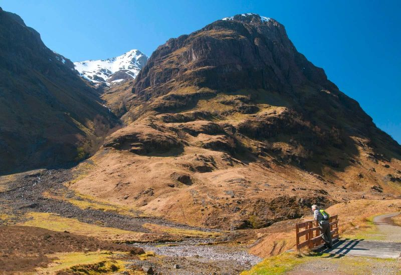 Pass of Glencoe during a road trip in Scotland