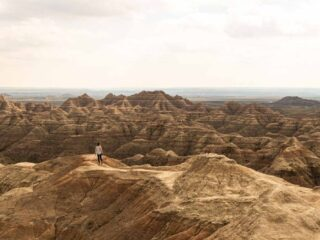 A photo of Badlands National Park which is a fun thing to do near Rapid City