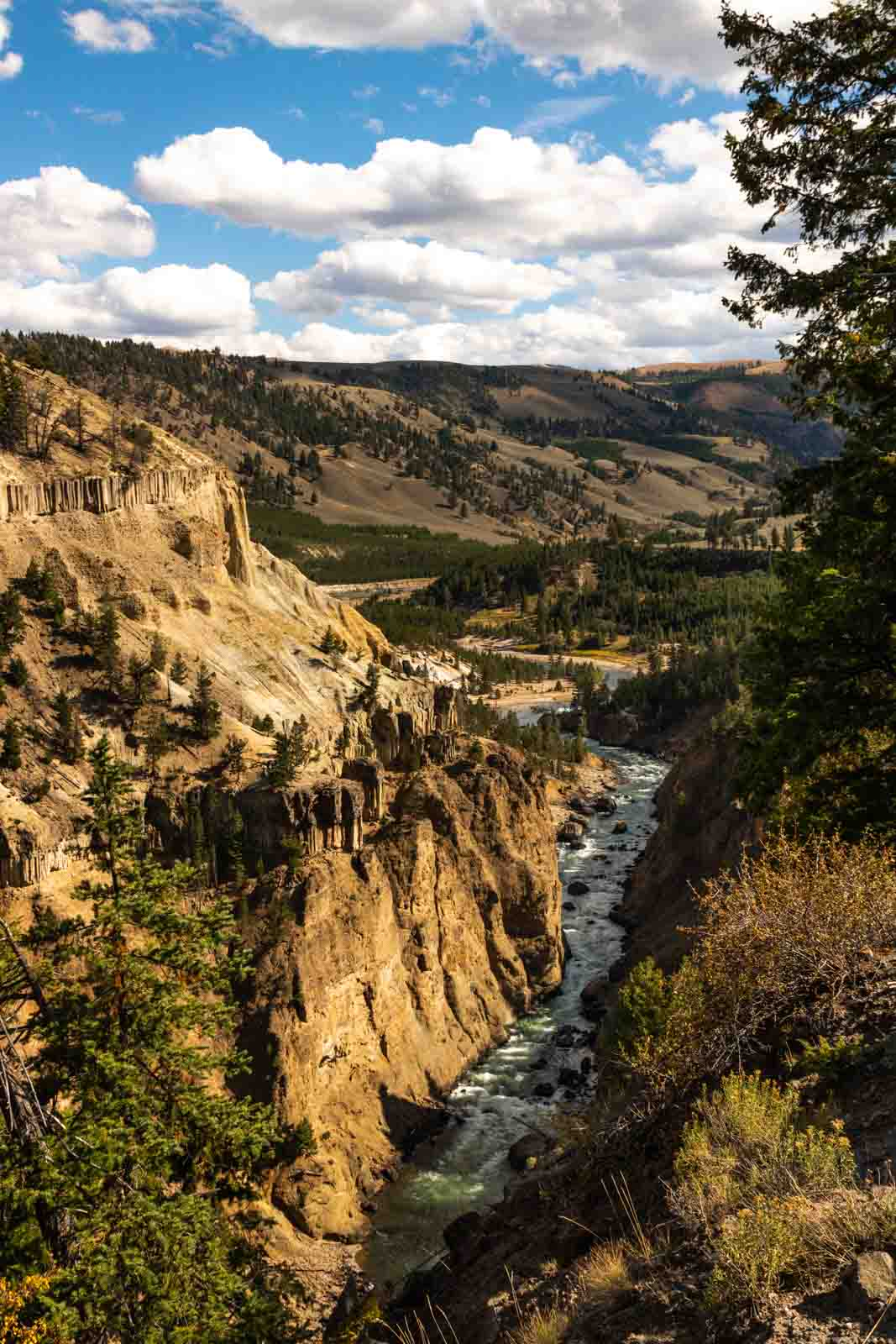 A view of Tower Fall is a must see on your Yellowstone itinerary