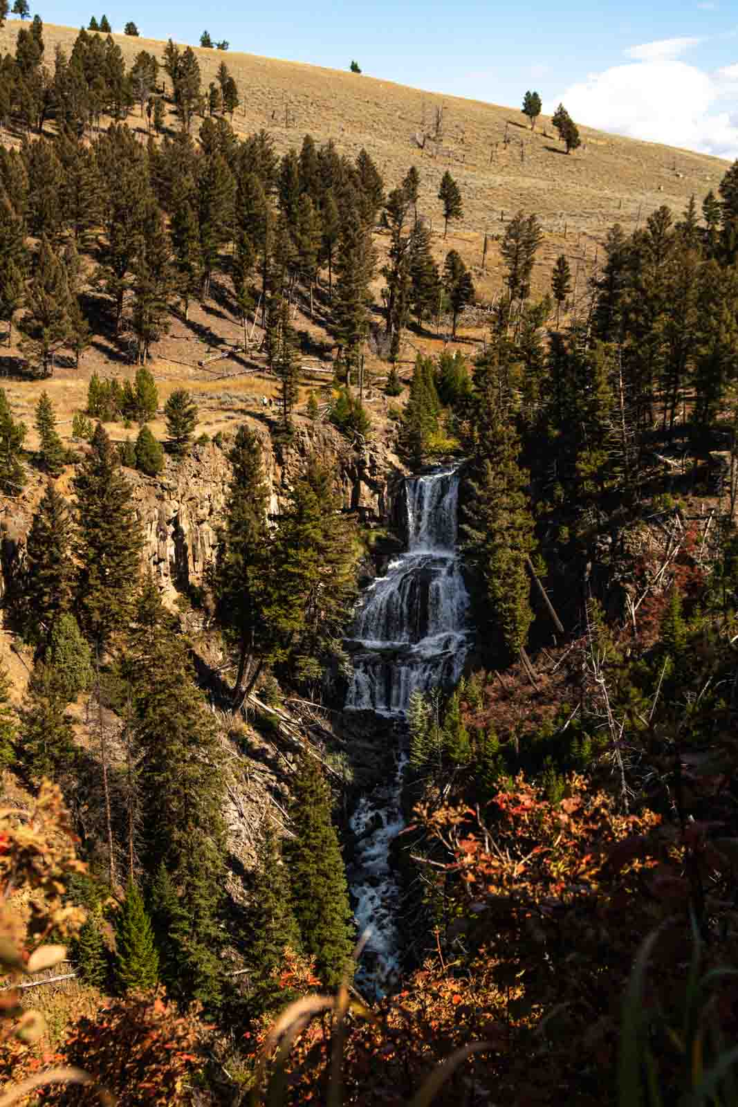 A view of Undine Falls that shouldn't be skipped on your Yellowstone itinerary
