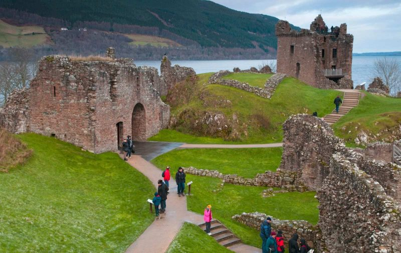 View on Urquhart Castle during Scotland road trip