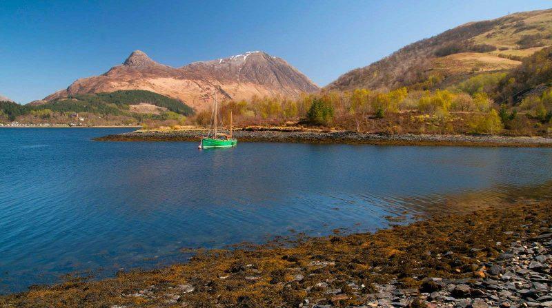 Loch Leven druing Scotland road trip