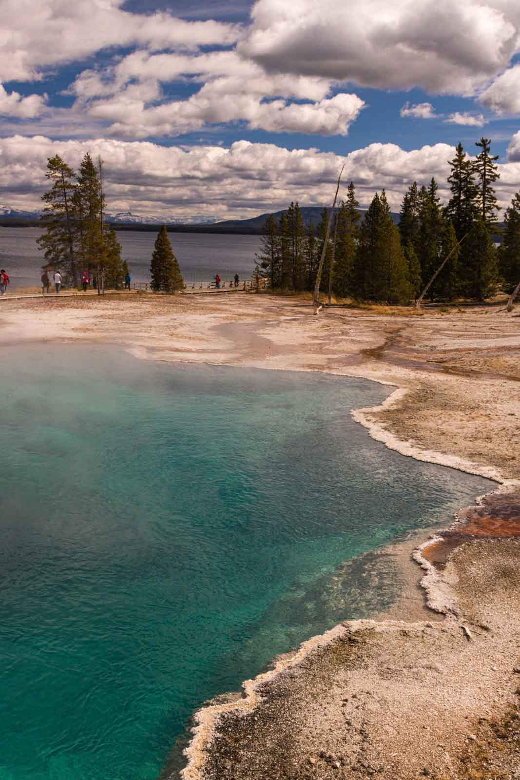 West Thumb Geyser Basin is another exciting thing to do in Yellowstone