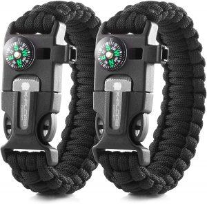 x-plore gear emergency paracord bracelets - travel accessory
