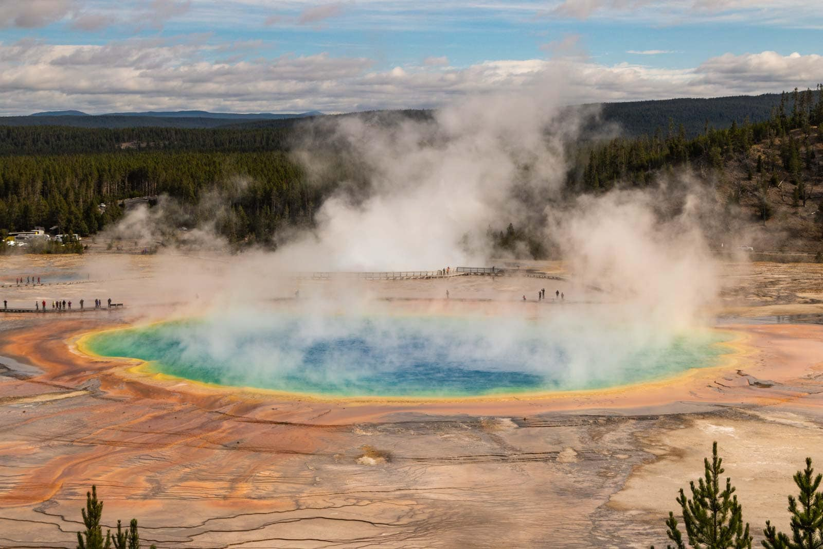 An iconic USA road trip is through Yellowstone and Grand Teton National Parks.