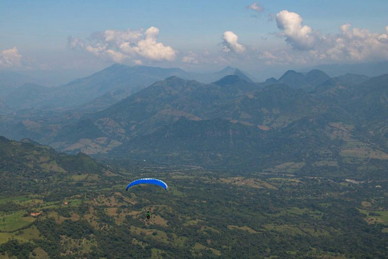 Paragliding over Jerico is a fun day trip from Medellin.