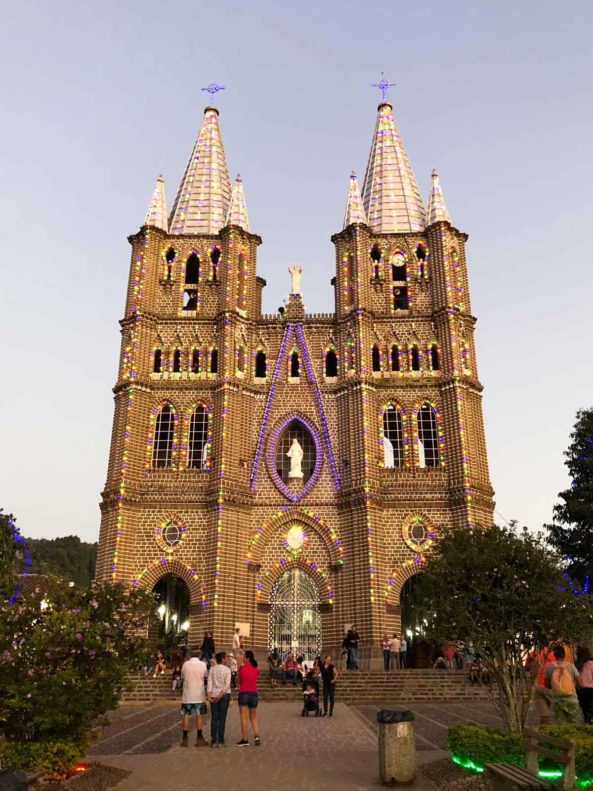 A church in Jardin, Colombia.