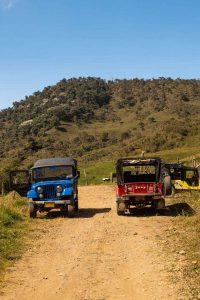 Jeeps in La Cueva del Esplendor.