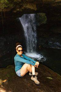 Soaking in the awesome views of this waterfall in La Cueva del Esplendor.