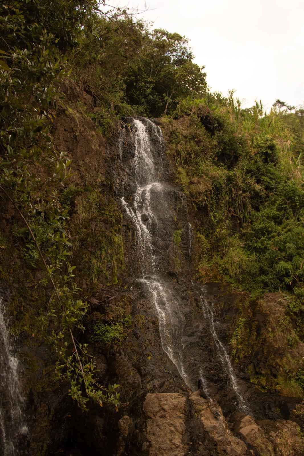 A waterfall in La Cueva de los Guacharos in Jardin, Colombia.