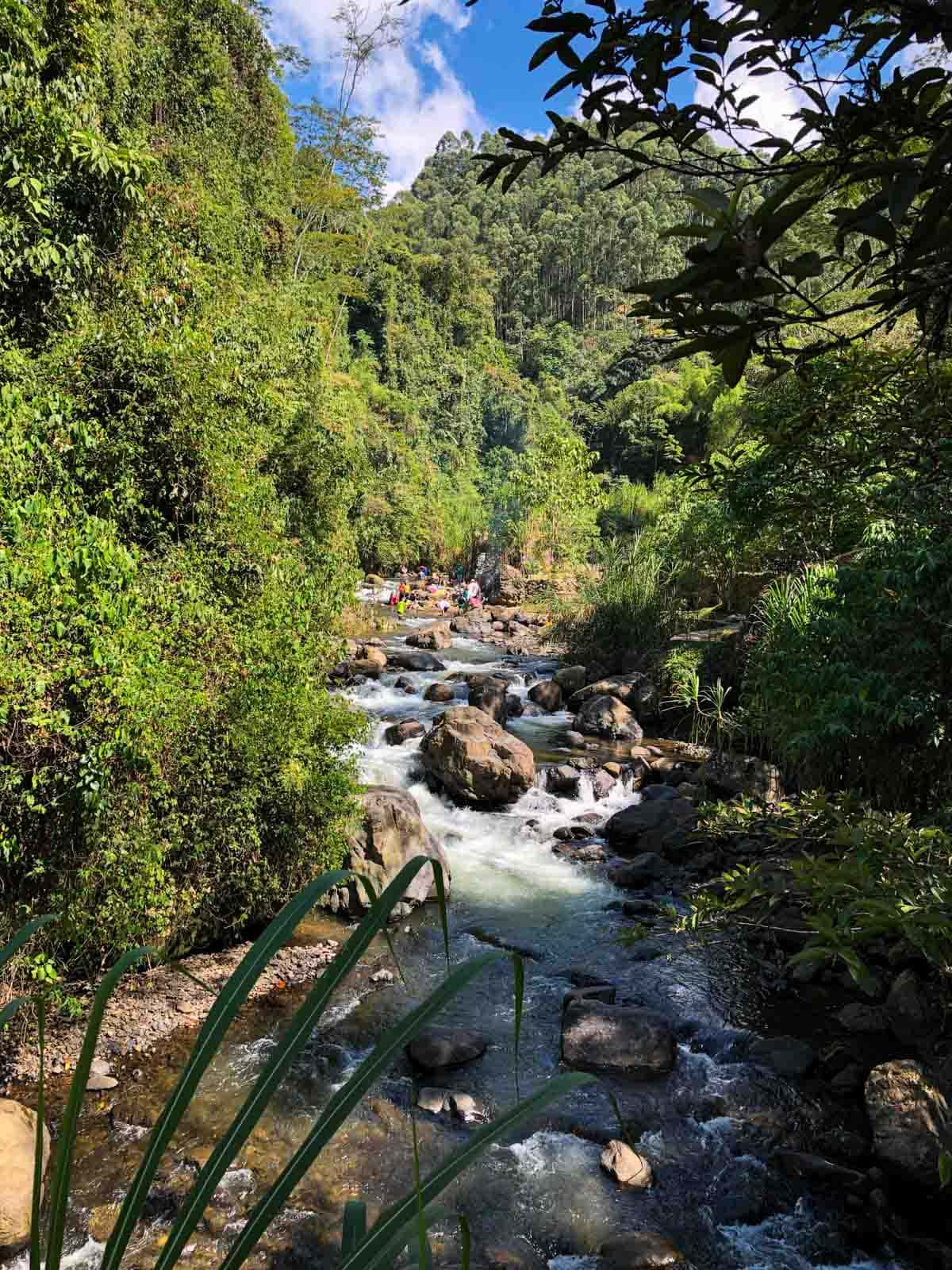 A river in Jardin, Colombia.