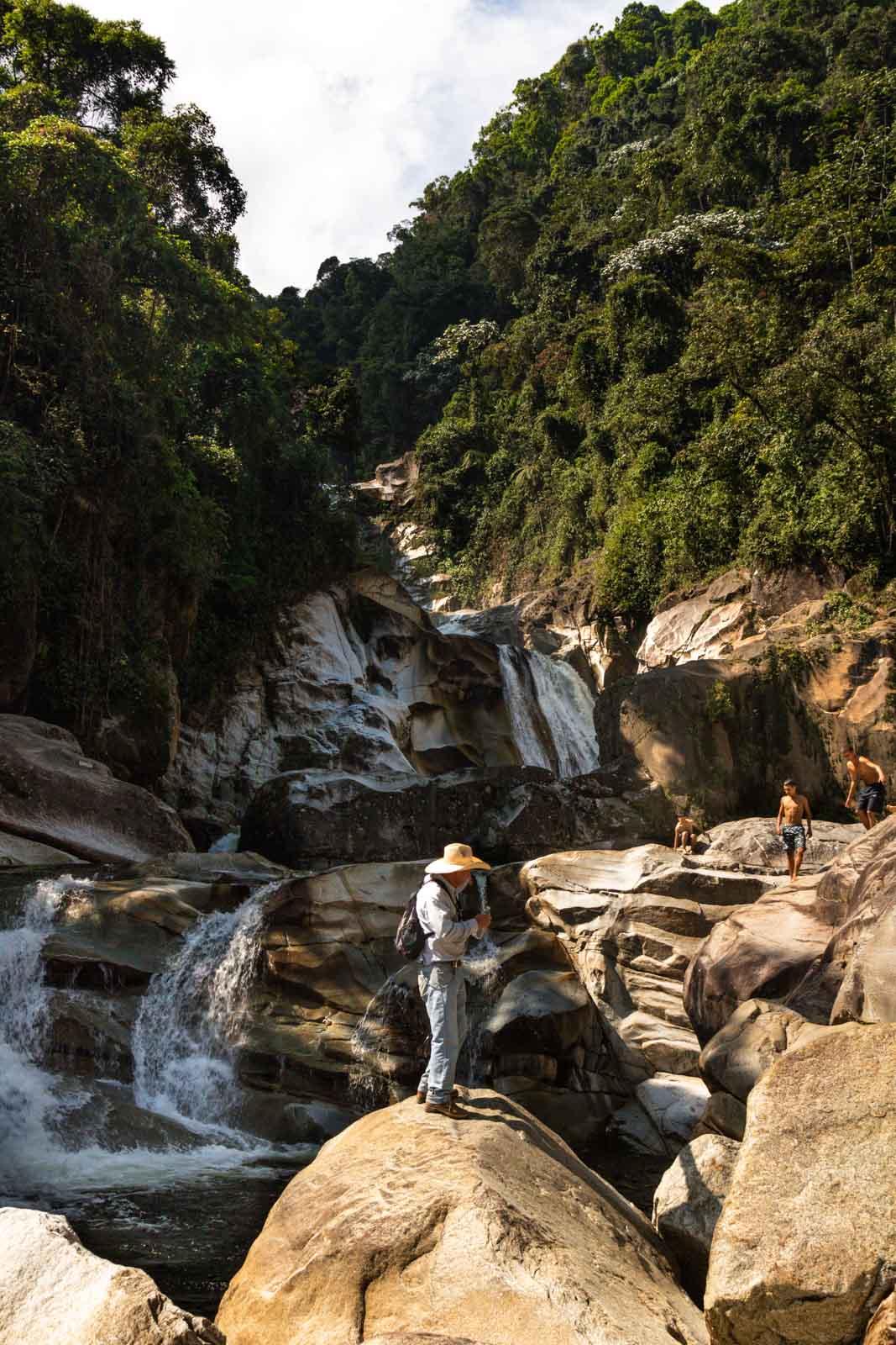 Our Tarapoto Falls guide in Jardin, Colombia.