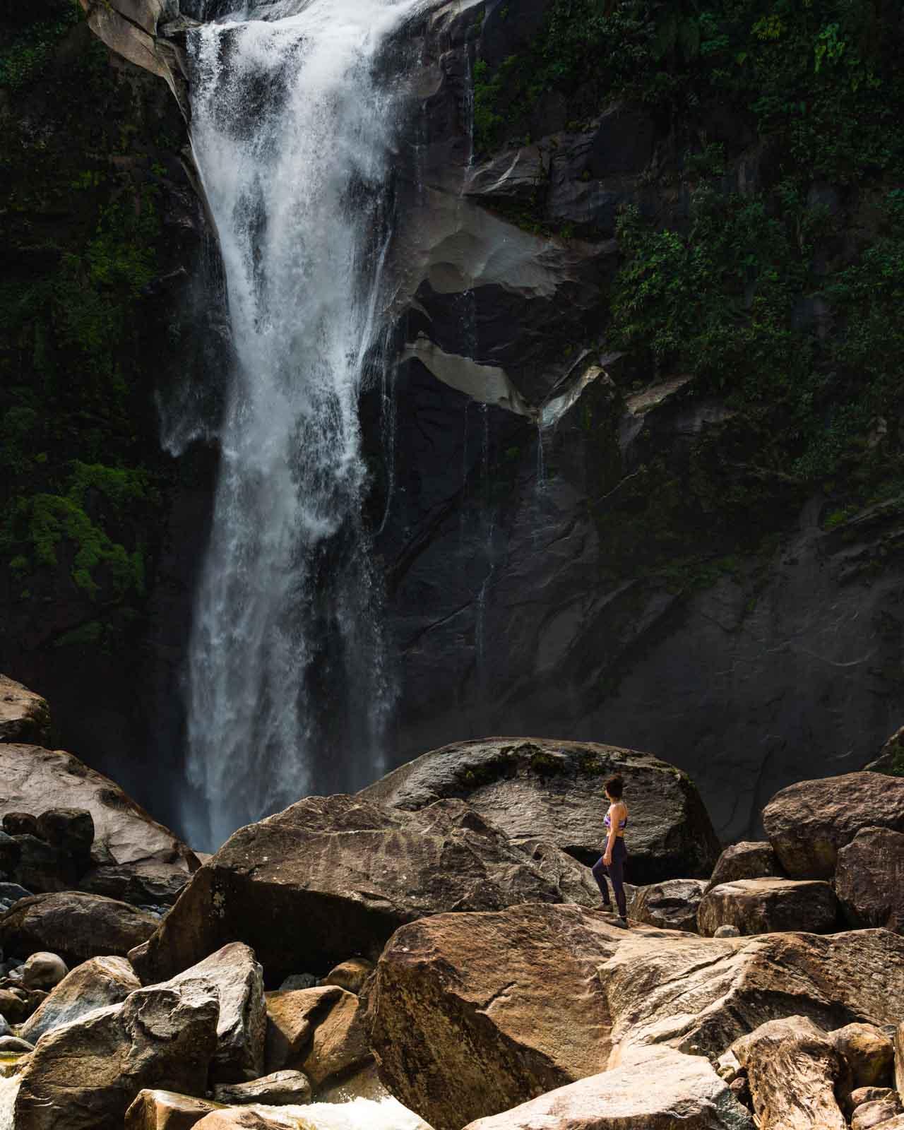 Tarapoto Waterfall in Jardin, Colombia.